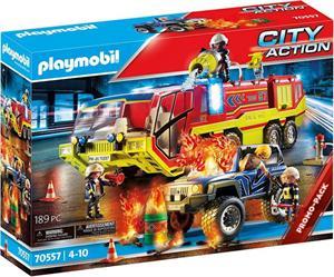 Playmobil Citi Action Operación Rescate con Camión de Bomberos 70557