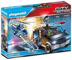 Playmobil City Action Helicótero de Policia Persecución del Vehiculo Huido 70575
