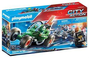 Playmobil City Action Kart Policial Persecución Ladrón 70577