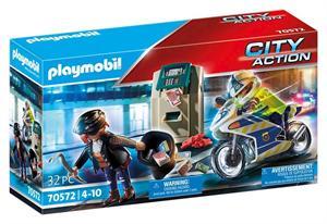 Playmobil City Action Moto de Policia Persecución del Ladrón 70572