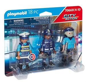 Playmobil City Action Set Figuras Policia 70669