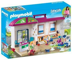 Playmobil City Life Clinica Veterinaria Maletin 70146