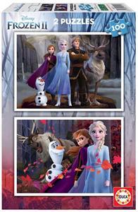 Puzzle Frozen II 2x100 piezas Educa 18111