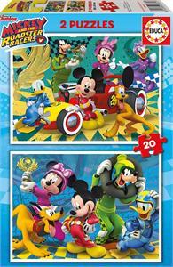 Puzzle Mickey y los Superpilotos 2x20 piezas Educa 17631