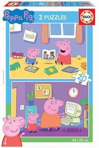 Puzzle Peppa Pig 2x20 piezas Educa 18087