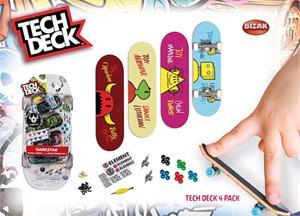 Tech Deck Pack 4 Mini Monopatines Bizak 61923610