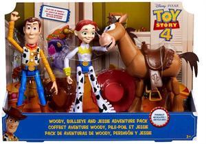Toy Story 4 Pack 3 Figuras Woody, Jessie y Perdigon Mattel 63GKF