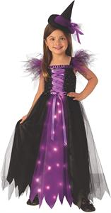 Disfraz Bruja Madrina con Luz Infantil Talla-M 5 a 7 años Rubie's 700903M