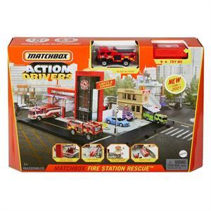 Matchbox Estacion de Bomberos con Luz y Sonido Mattel 76HBD