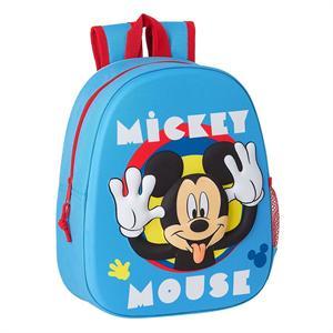 Mochila 3D Mickey Mouse Infantil Safta 642163890