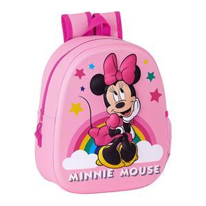 Mochila 3D Minnie Mouse Infantil Safta 642162890