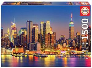 Puzzle 1500 Piezas Manhattan de Noche Educa 18466