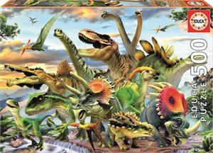 Puzzle Dinosaurios 500 piezas Educa 17961