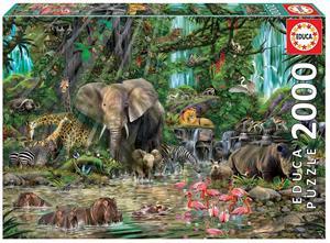 Puzzle Jungla Africana 2000 piezas Educa 16013